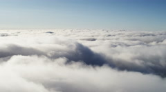 Aerial Clouds Atmospheric Accumulation Liquid Frozen Water Crystals Layer - stock footage