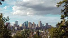 4K Tilt down to the skyline of the capital city Edmonton, Alberta Stock Footage