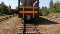 Narrow gauge railway station Stock Footage