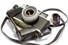Camera - 1957 Ricoh 35S - stock photo