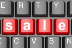 Sale word on computer keyboard - stock illustration