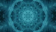 Stock Video Footage of Radiating Blue Fractal Keleidoscope Background from Virus Image