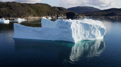Stock Video Footage of Aerial Greenland Arctic Ice Floes Global Warming Damage Rising Sea Geography