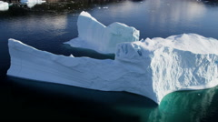 Aerial Disko Bay Greenland Floating Glacial Ice Mass Frozen Travel Destination - stock footage