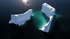 Aerial Climate Greenland Ice Floes Rising Temperatures Remote - stock footage