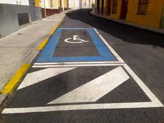 Disability parking place - stock photo
