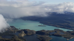 Aerial Greenland Arctic Circle Glacial Lake Meltwater Landscape Stock Footage