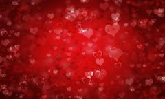 Valentine's day or Wedding background with hearts - stock illustration