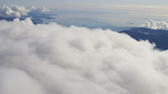 Aerial Cumulus Clouds White Unpolluted Environment Atmosphere Stock Footage