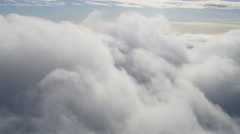 Aerial Water Vapor Clouds White Layer Surface Natural Atmosphere - stock footage