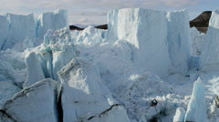 Aerial Eqi Glacier Global Warming Changing Geography Landscape - stock footage