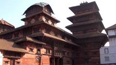 The Durbar Square in Kathmandu, Nepal Stock Footage