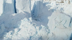 Stock Video Footage of Aerial Eqi Glacier Global Warming Changing Geography Landscape
