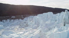 Aerial Melting Polar Icecap Climate Change Travel Destination Stock Footage