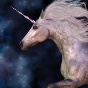 Dapple Grey Unicorn - stock illustration