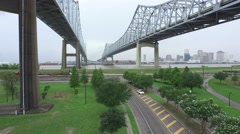 New Orleans West Bank Bridge 2 Stock Footage