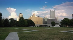 Evening Pittsburgh Skyline Establishing Shot Stock Footage