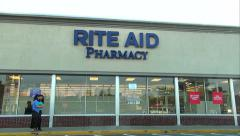 Rite Aid Pharmacy entrance Stock Footage