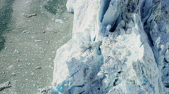 Stock Video Footage of Aerial Ice Meltwater Glacier Icefjord Ocean Environment Greenland
