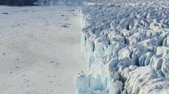 Aerial Eqi Glacier Arctic Circle Greenland Melting Icecap Environment - stock footage
