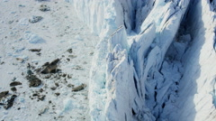 Aerial Glacier Global Warming Changing Geography Landscape Frozen Mass - stock footage
