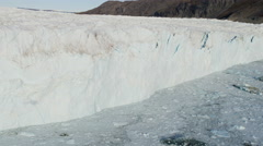 Stock Video Footage of Aerial Glacier Global Warming Changing Geography Landscape Frozen Mass