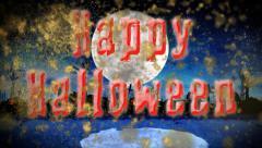 Monster Island Happy Halloween Stock Footage