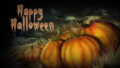 Scary Pumpkin Happy Halloween - stock footage