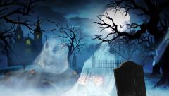 Ghostly Halloween Castle Stock Footage