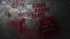 Blood Donor Party Invitation Stock Footage