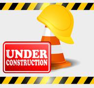 Under construction progress Stock Illustration