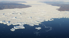 Aerial Climate Greenland Ice Floes Arctic Circle Rising Temperatures Remote - stock footage