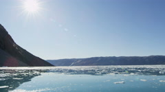 World Heritage Site Disko Bay Greenland Global warming - stock footage