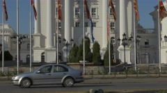 Skopje Government Building Stock Footage