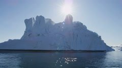 Greenland Climate global weather drifting ice floes fjord - stock footage