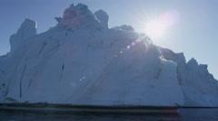 Ilulissat Icefjord Disko Bay UNESCO arctic glacier ice mass - stock footage