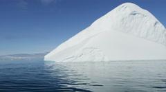 Global warming nature Iceberg sea Ilulissat Icefjord Disko Bay - stock footage