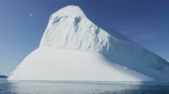 Icefjord landscape iceberg climate change glacial Disko Bay Stock Footage