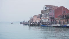 Houses in Murano Venice 04 Stock Footage