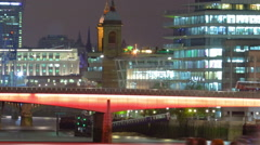 Panning time-lapse of the London Bridge in London Stock Footage