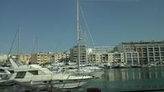 Msida Valletta Malta yacht marina Stock Footage