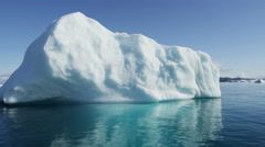Icefjord iceberg climate change glacial sunlight reflection Disko Bay - stock footage