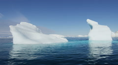 Greenland Climate global weather drifting iceberg fjord - stock footage