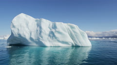 Icebergs Global warming Ecotourism Disko Bay Greenland Stock Footage