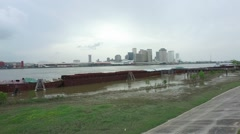 New Orleans Lake Pontchartrain city back ground Stock Footage