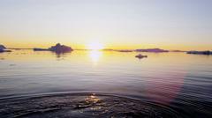 Ilulissat Icefjord Disko Bay fishing trawler icebergs climate Stock Footage