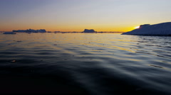 Arctic Circle sunset conservation Greenland Ilulissat Icefjord ice - stock footage