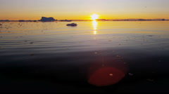 Greenland Climate change global weather drifting ice floes fjord - stock footage