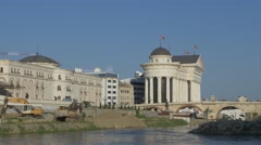 Skopje city center Stock Footage