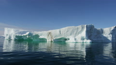 Ilulissat Icefjord Disko Bay UNESCO site arctic glacier ice Stock Footage